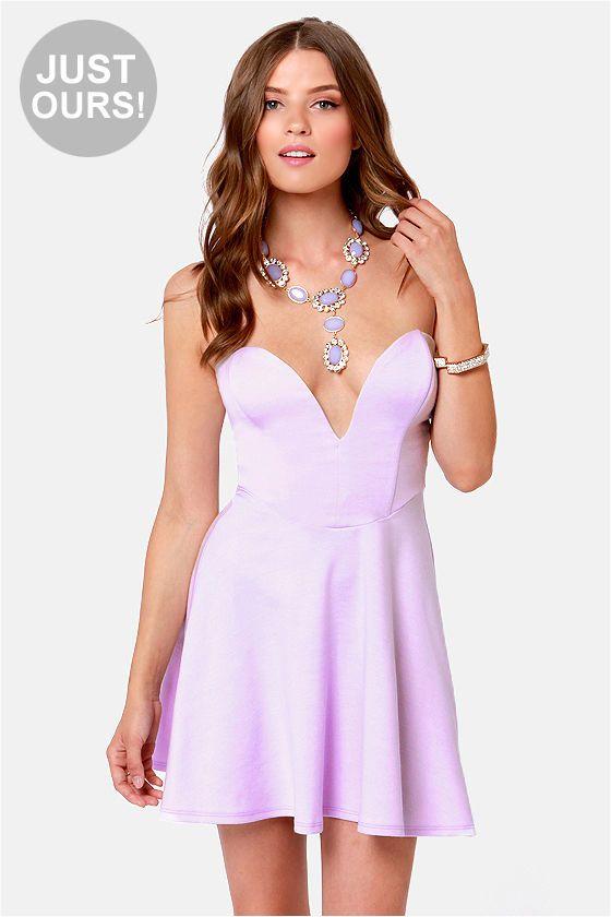 380a383aa211d Sexy Lavender Dress - Strapless Dress - Skater Dress -  44.00
