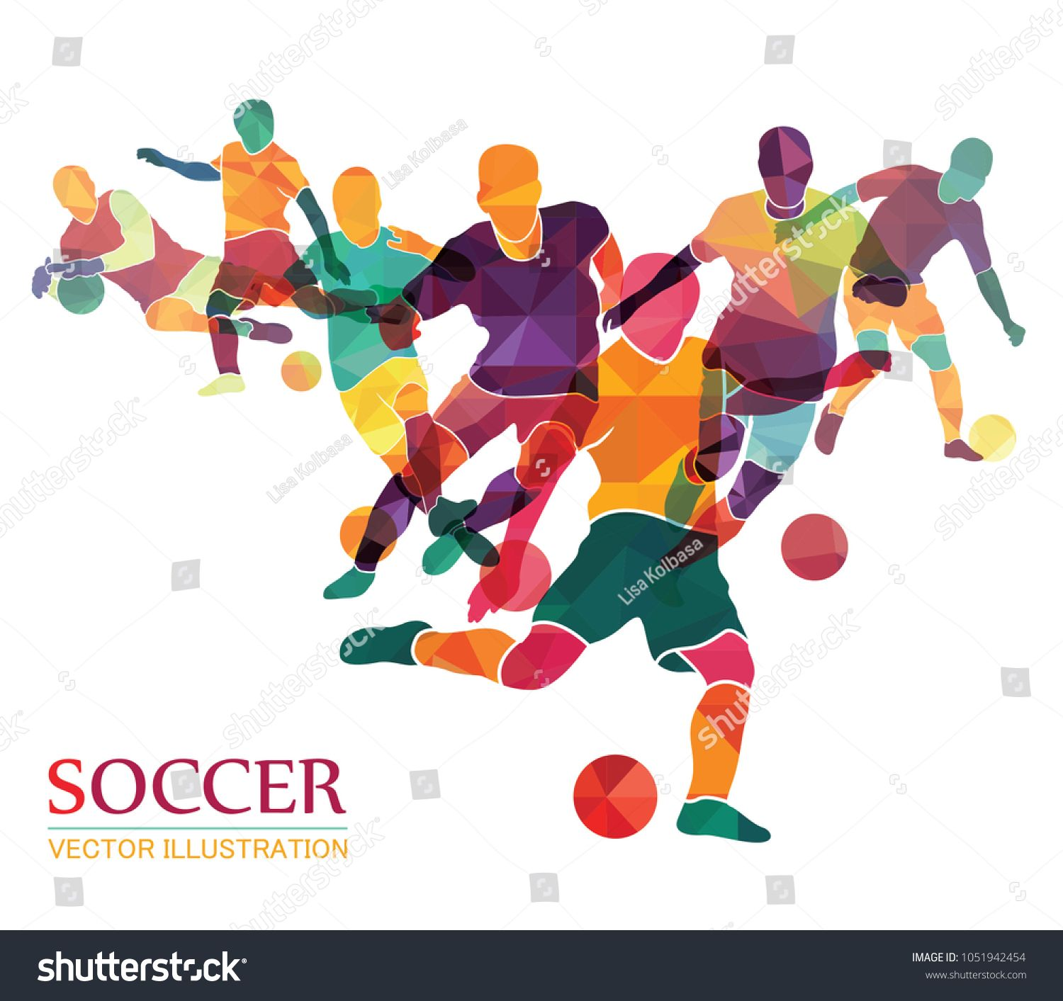 Football Soccer Colorful Background Vector Illustration Football Wallpaper Football Illustration Sports Wallpapers