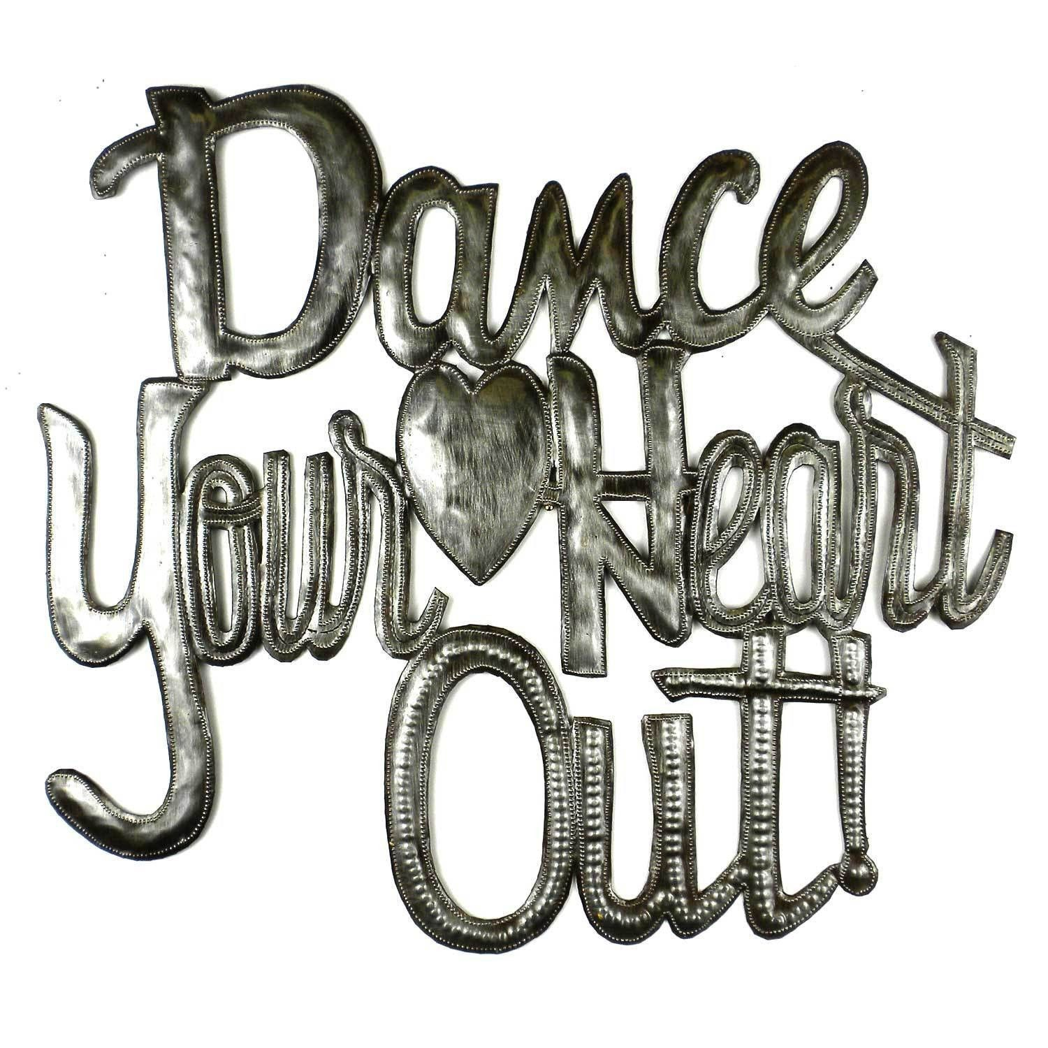Dance your heart out haitian metal wall art heart metals and