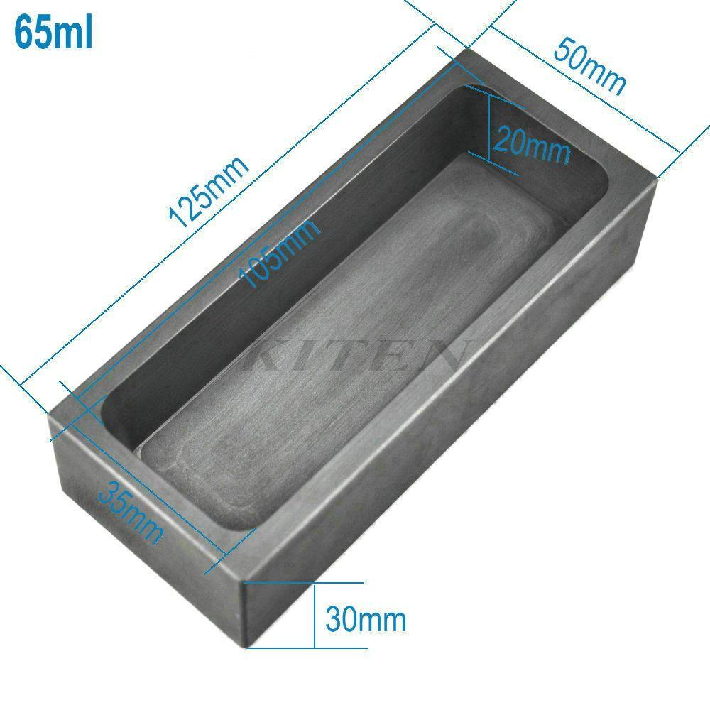 65 미리리터 고순도 정제 흑연 주조 녹는 잉곳 금형 골드 실버 금속