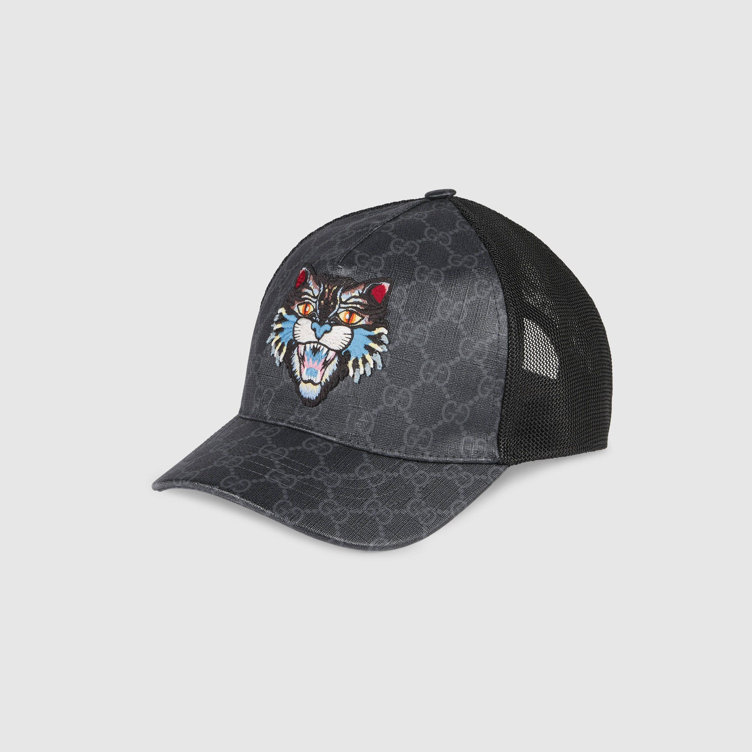 5f4527dfa9cee9 Gucci GG Supreme baseball hat with Angry Cat Detail 2 $440 ...