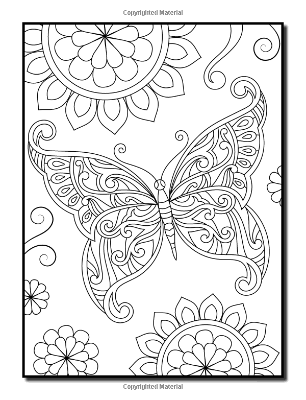 Amazon Com Coloring Books For Adults Relaxation 100 Magical Swirls Coloring Book With Fun Easy Relaxing Coloring Book Butterfly Coloring Page Coloring Books