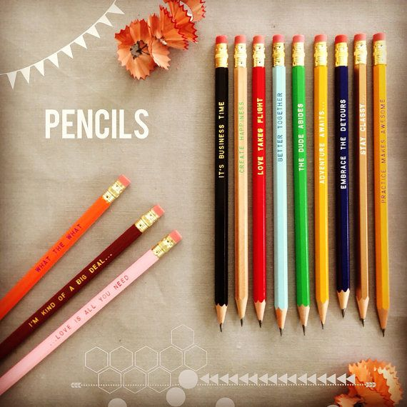 Dad I Love you personalized pencils