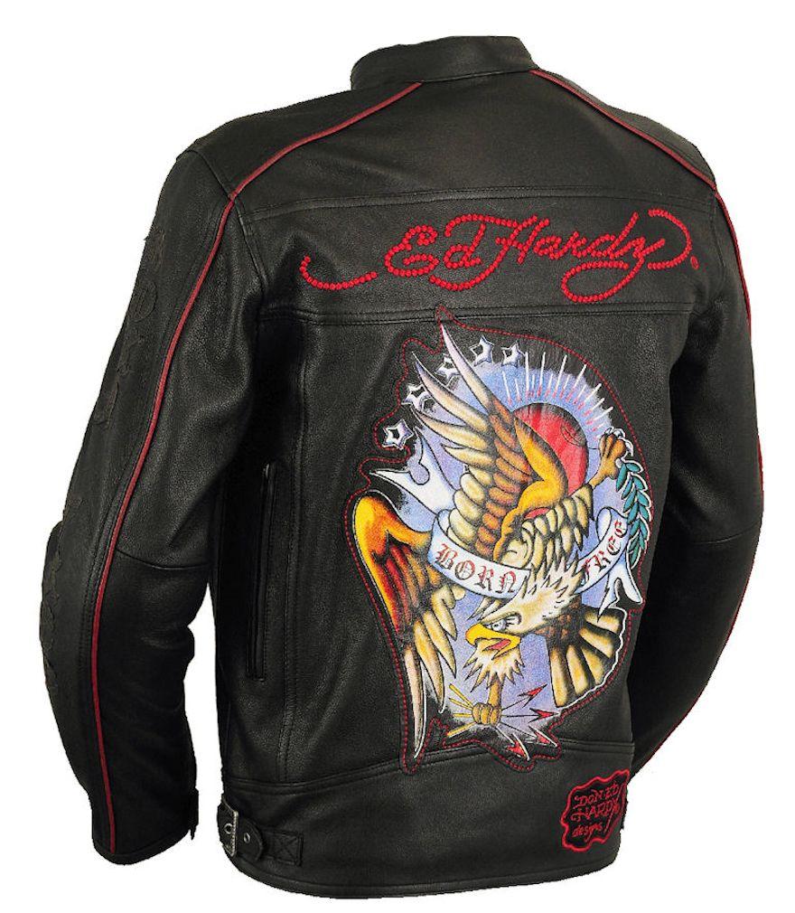 Ed hardy born free leather jacket ladies