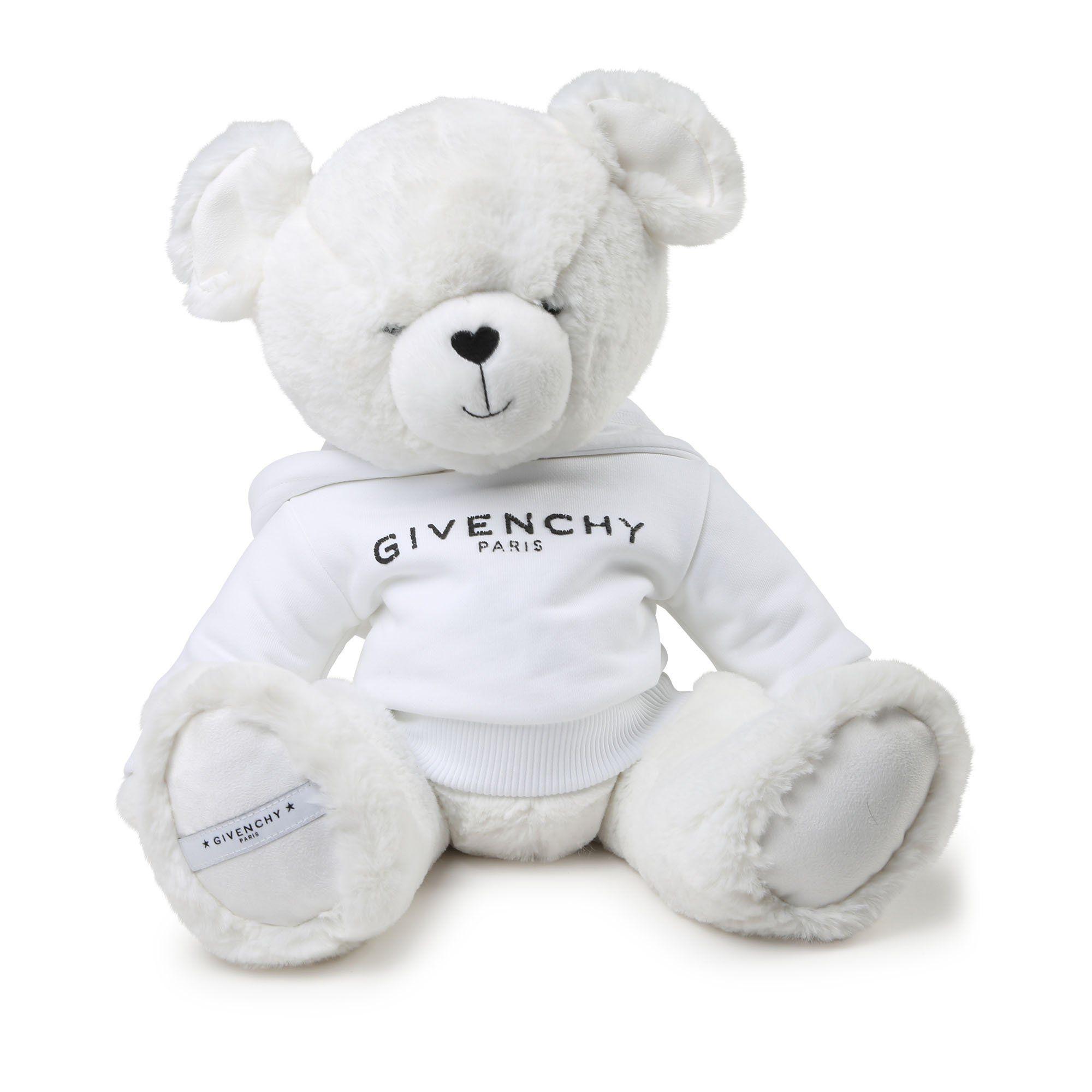 White Givenchy Teddy With Logo Sweatshirt - OS