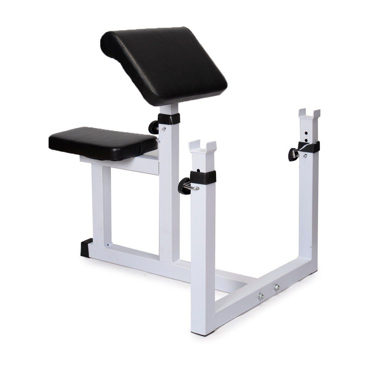 Apontus Seated Preacher Curl Weight Bench 2 Thickness Cushion Max Loading 440 Lbs High Density Tapered Dua Preacher Curls Weight Benches Home Gym Bench