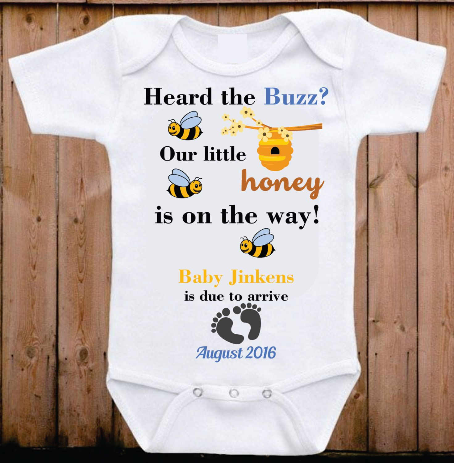 Pregnancy Announcement Onesie Baby onesie Pregnancy Reveal to – Etsy Baby Announcements
