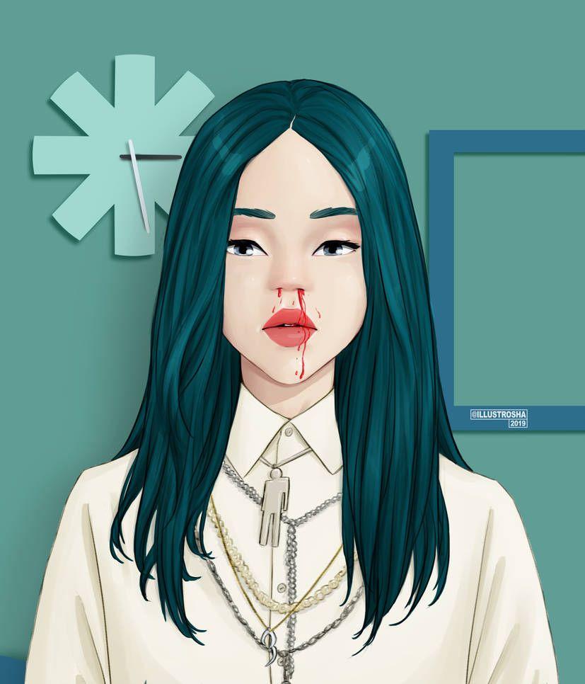 Billie Eilish By Queenrosha On Deviantart Billie Billie Eilish Guy Drawing