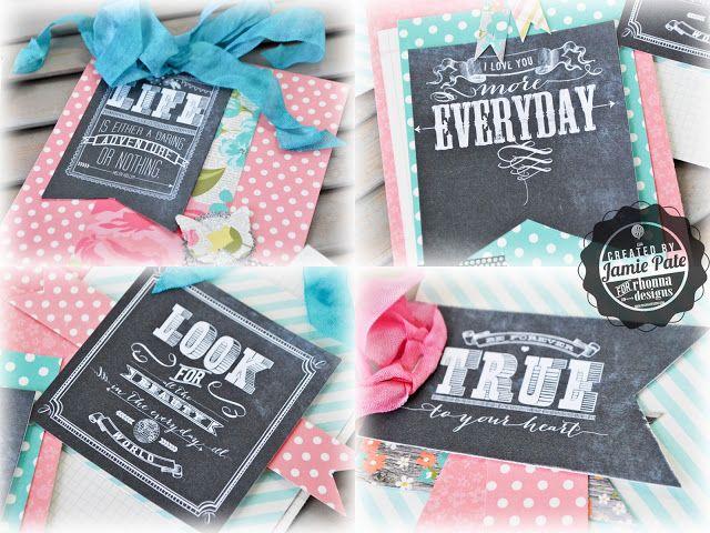 jmpgirl ~ chalk art cards rhonna designs