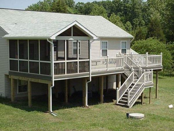 Fantastic 11x16 Screened Porch Deck 50199 Home Design Ideas Screened In Deck Deck Designs Backyard Deck Design