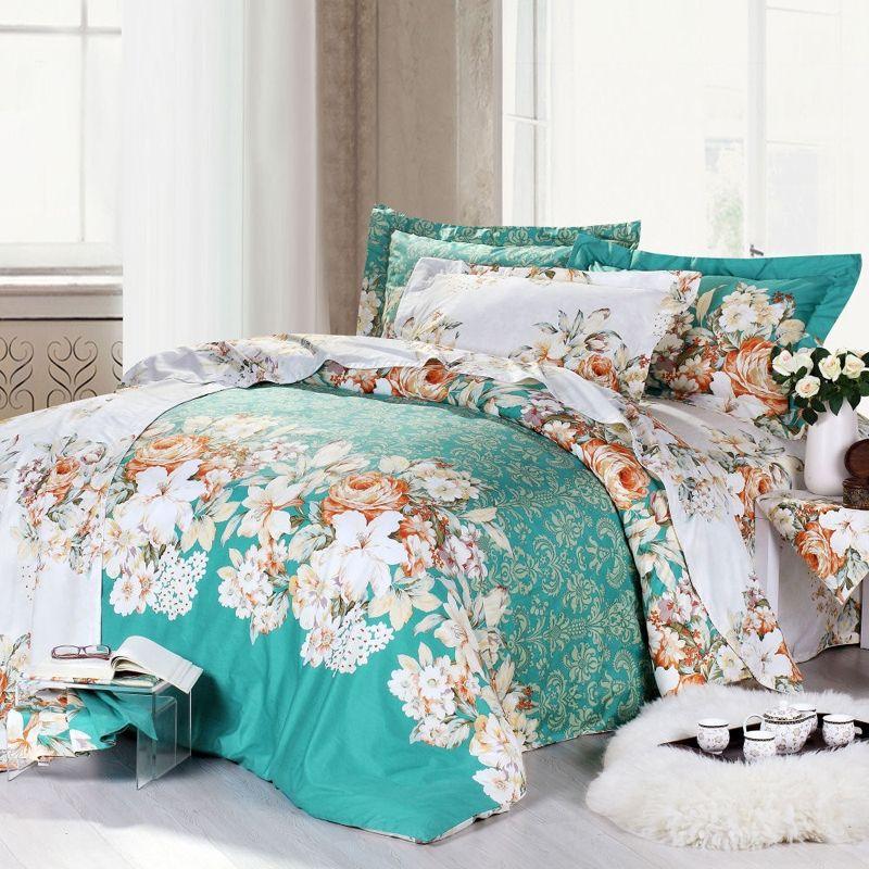 Spring Green Waverly Garden Room 100 Cotton Bedding Sets