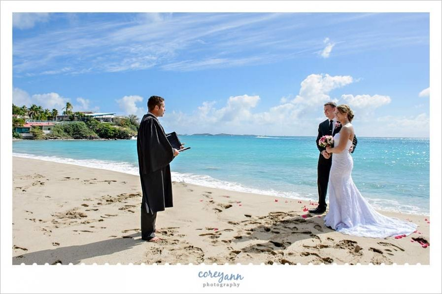 Sunny Destination Beach Wedding On St Thomas At Bluebeard S Club With Islandbliss By Corey Ann Photography