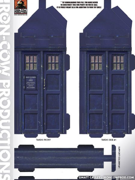 Iron-Cow Productions - free TARDIS to download | Wibbly Wobbly Timey ...