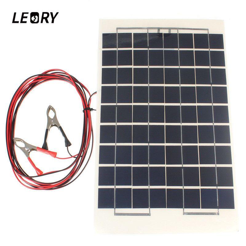 Diy 12v 10w Solar Module Epoxy Resin With Block Diode 2 Alligator Solar Panel Leory Solar Panel Battery Portable Solar Panels Solar Panels