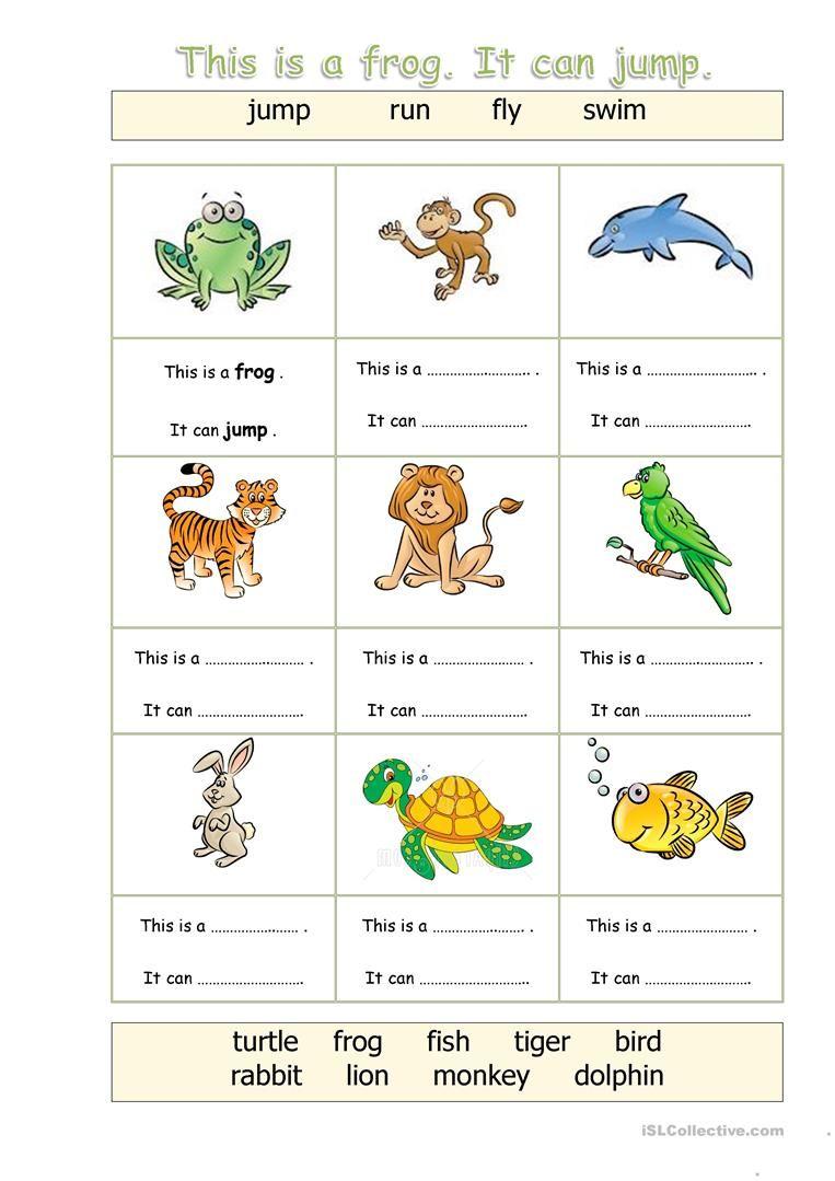 Animals - Can worksheet - Free ESL printable worksheets made by ...