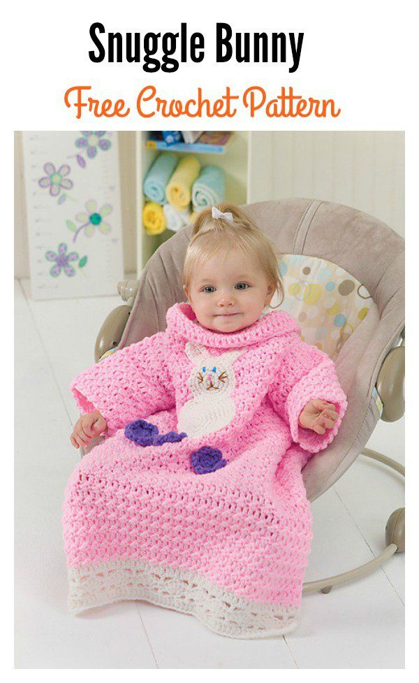 Crochet Bunny Blanket Free Patterns | Ponchos, Crochet para bebes y ...