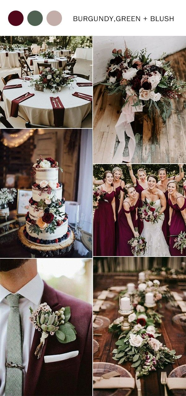 Fall Wedding Colors 2020-Top 10 Color Combination Ideas You'll Love - Oh Best Day Ever #weddingfall
