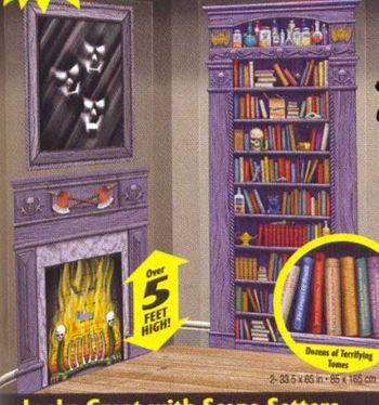 Horror Library Scene Setters plans 2 buy Pinterest Scene - halloween scene setters decorations
