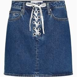 Photo of Calvin Klein Laced Denim Mini Skirt 28 Calvin Klein
