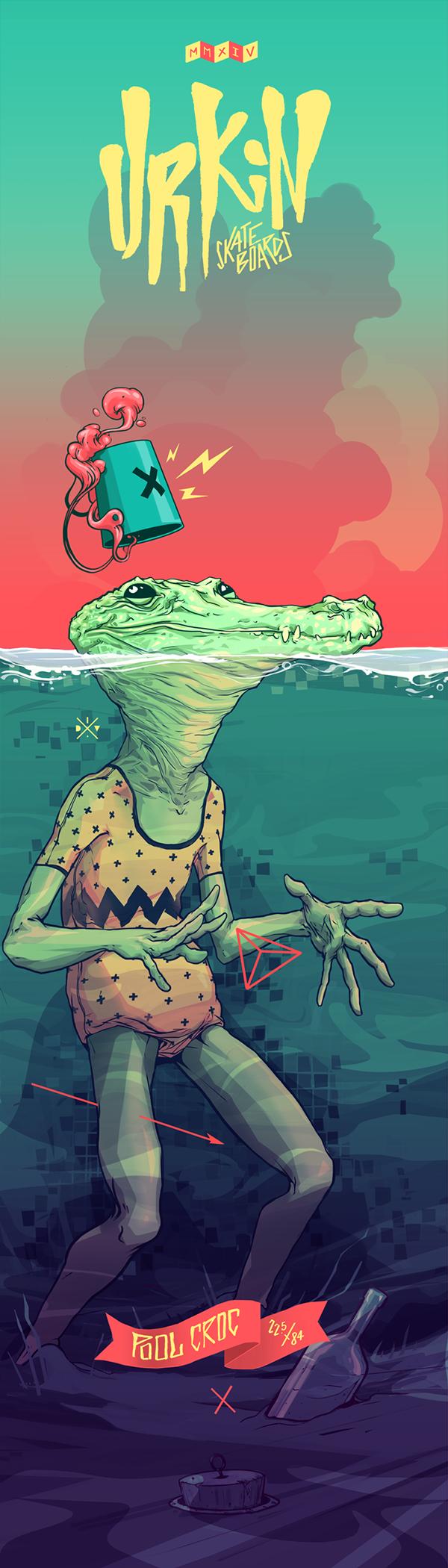"""Un marca páginas así podría enmarcarse jejejeje """"Urkin / Pool Croc ..."""