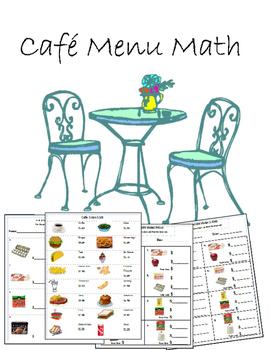Cafe Menu Math Cafe Menu Math Special Education Activities