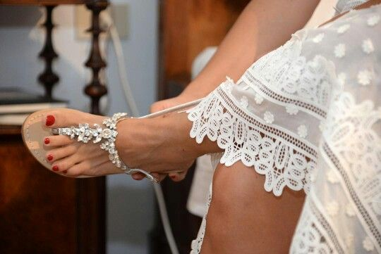 Special event........ wedding day.  Jewel  sandal customized and tailor made. www.deasandals.com #wedding #sandals #jewel #sandaligioiello #specialday #outfit #sposa #elegance #deasandals #caprisandals #sandali #infradito #sandalicapresi #scarpesumisura #capri #shoes #style #women #cerimonia #jewelsandals