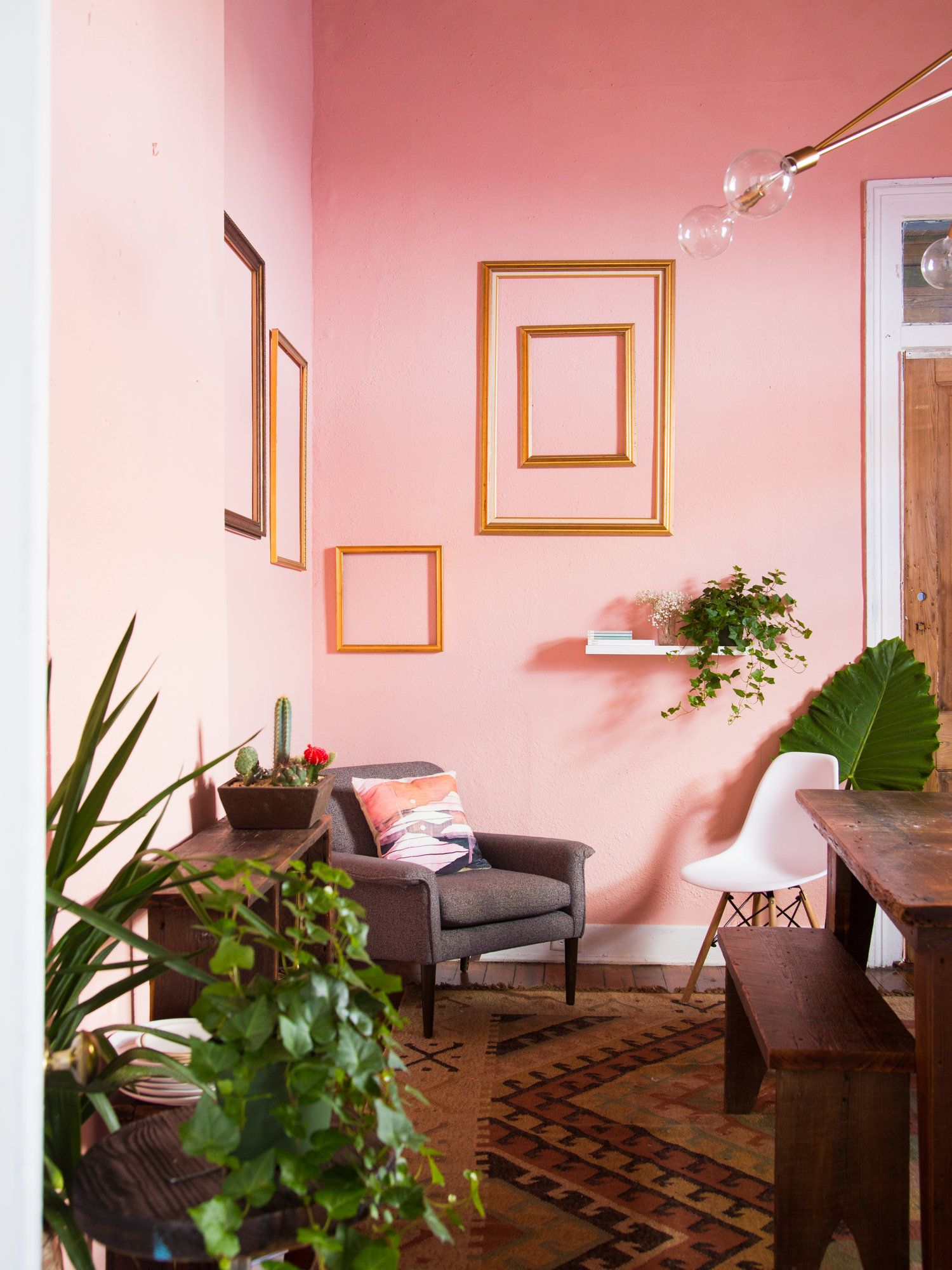 jan 9 pretty in pink: dining room makeover | pink dining rooms