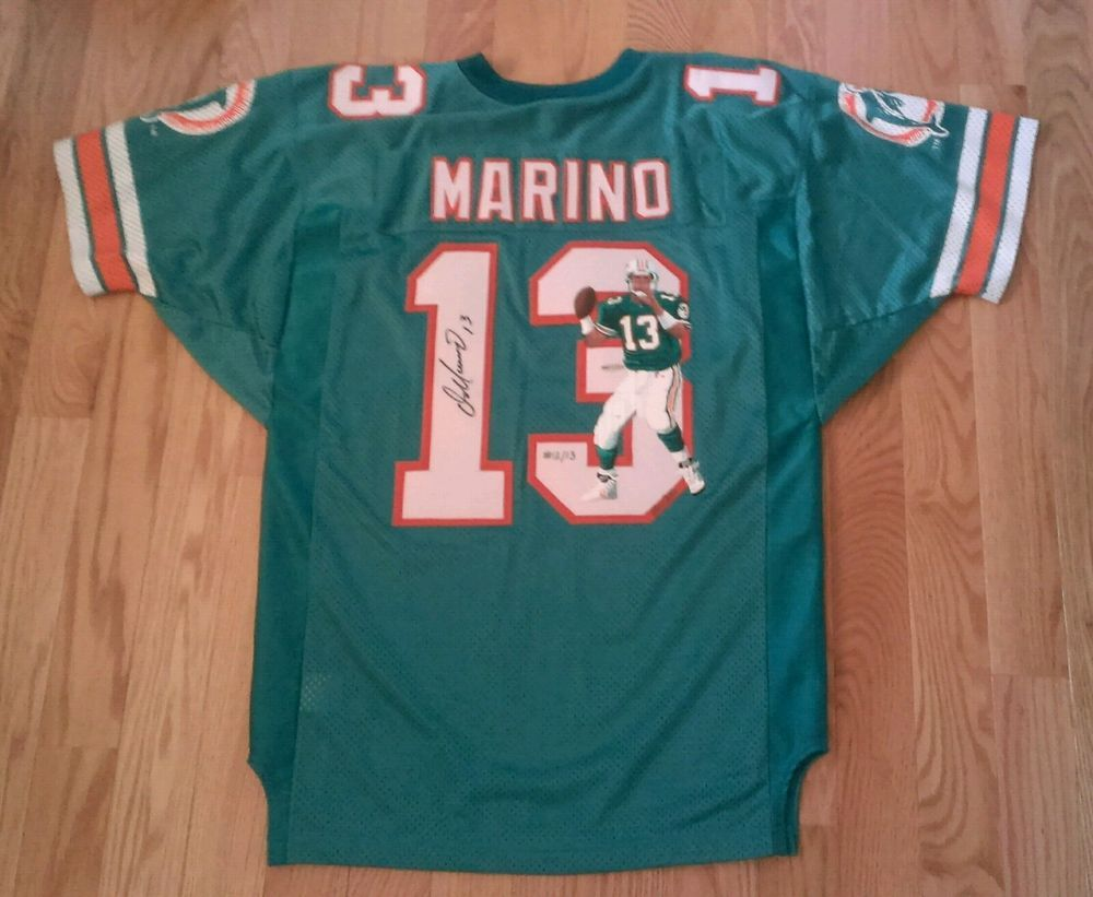 on sale bf641 c73ab Miami Dolphins Dan Marino Signed Jersey Upper Deck ...