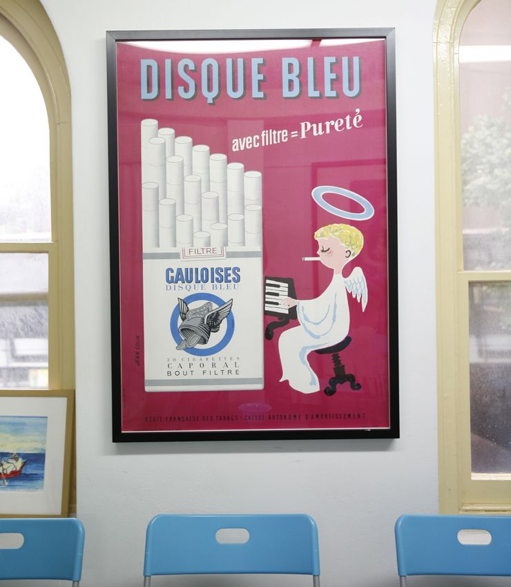 This 1957 poster, by Jean Colin, advertising Gauloises ...