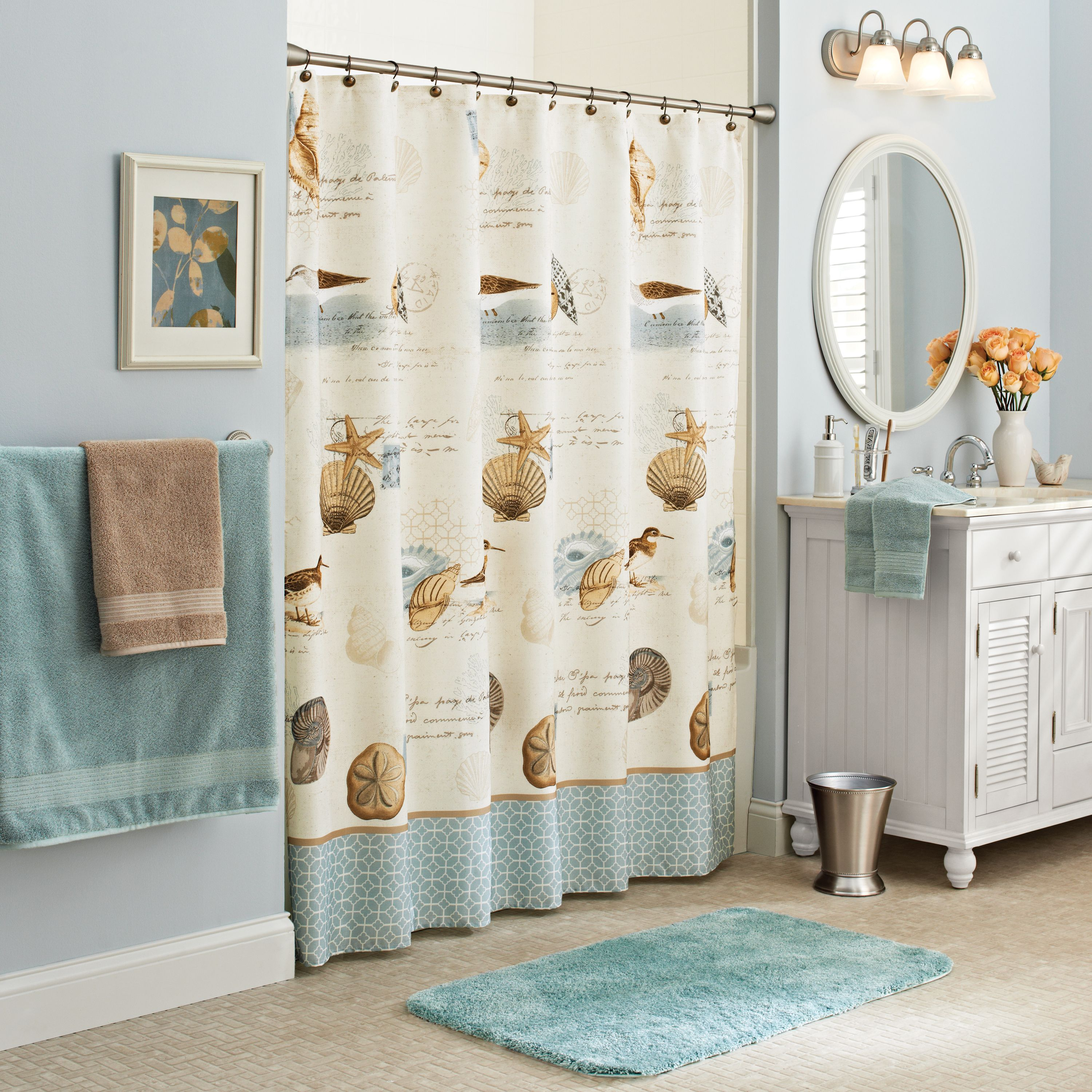 Better Homes Gardens Bhg Spa Waffle Wave Shower Curtain Grey