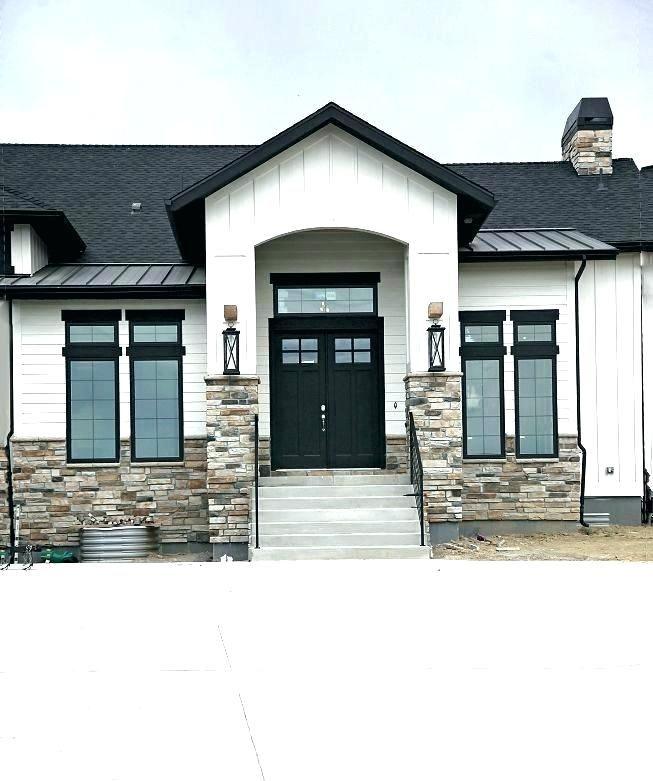 House windows black home window tint white stucco - White house white trim ...
