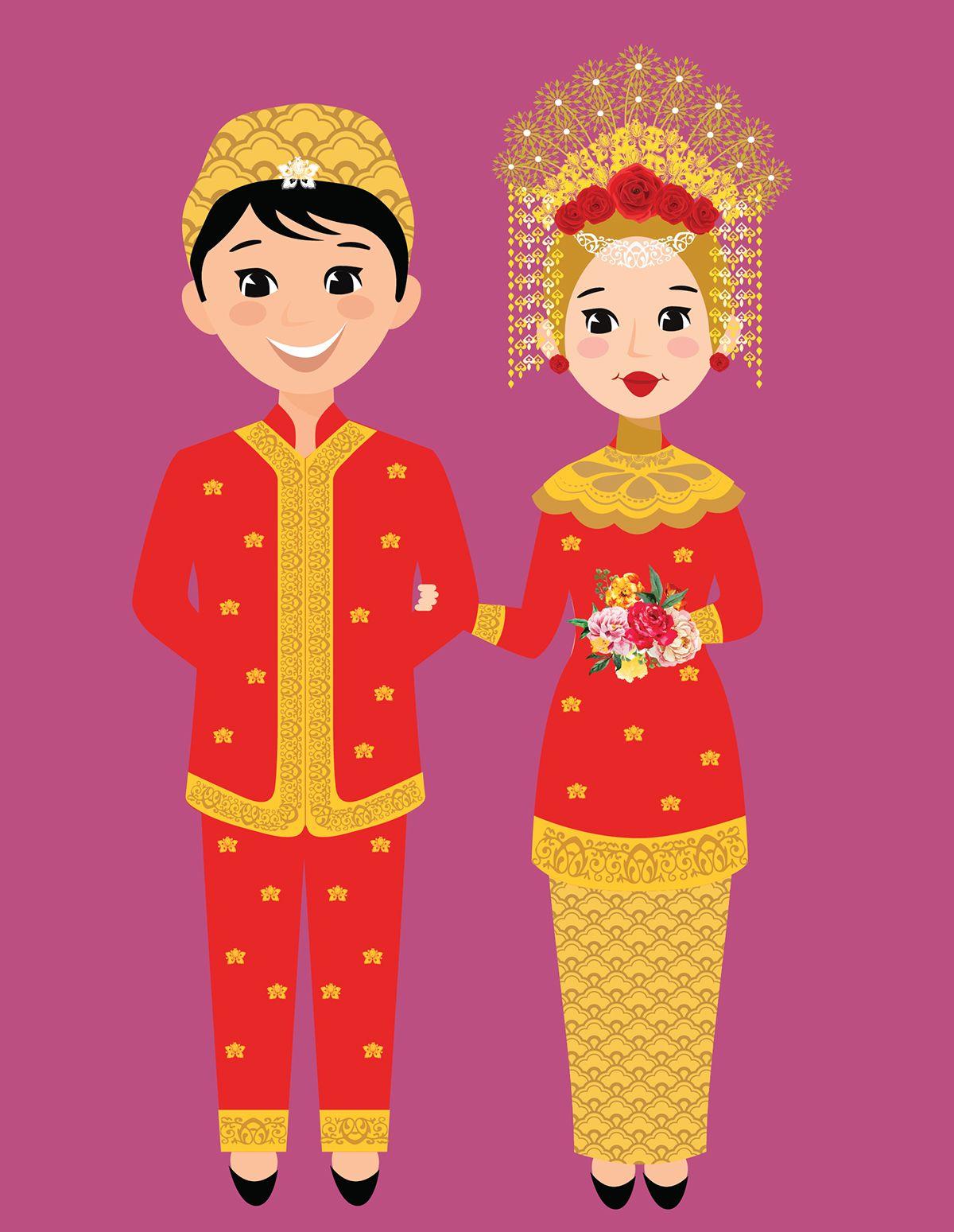 Pakaian Adat Lampung Kartun