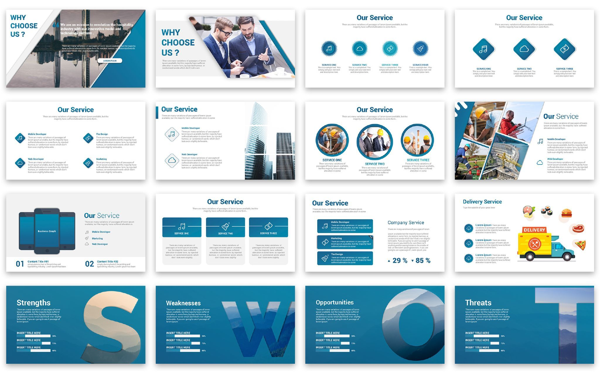 Business Graph Presentation Powerpoint Template 67383