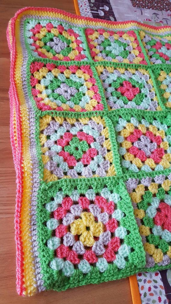 This pram blanket is made from Stylecraft Special DK acrylic yarn. This makes it machine washable and can be dried in a tumble dryer. It