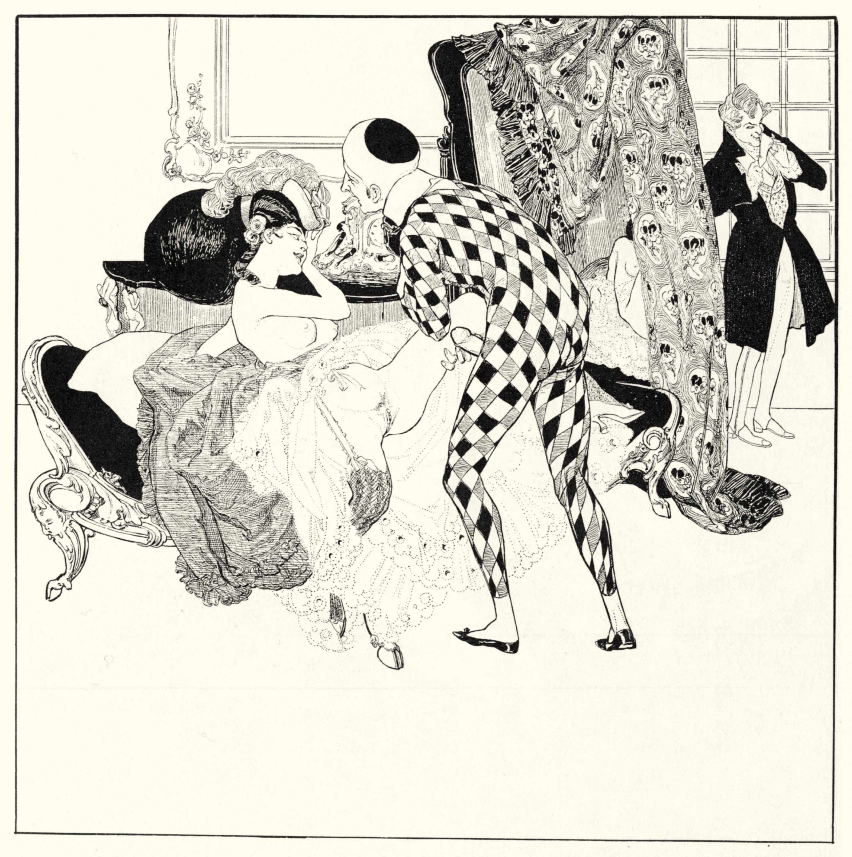 Franz von bayros erotic ex libris medusa erotic nude music heine #56 1910