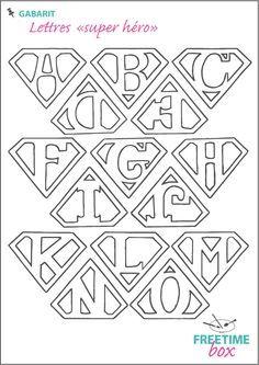 Tuto DIY - Pas à pas - Gabarit lettres super héro pour customisation de tee shirt en flock #superherocrafts