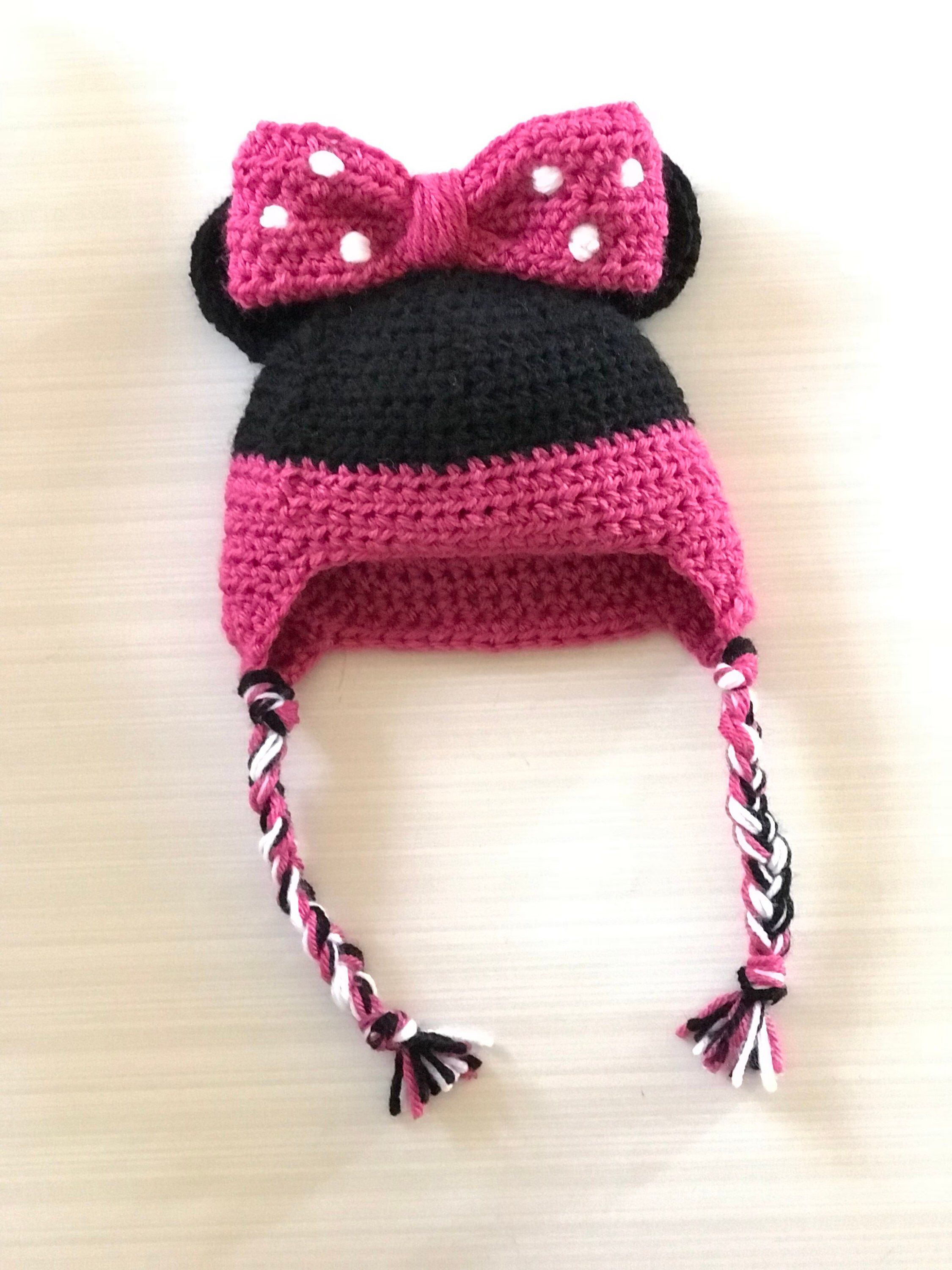 3431b363866 Excited to share this item from my  etsy shop  Baby Minnie Mouse Crochet Hat   accessories  hat  babyshower  christmas  mickeymouseclubhouse   redmickeymouse ...