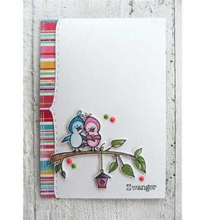 Carte petits oiseaux - Boutique scrapbooking - bloc papiers fleurs