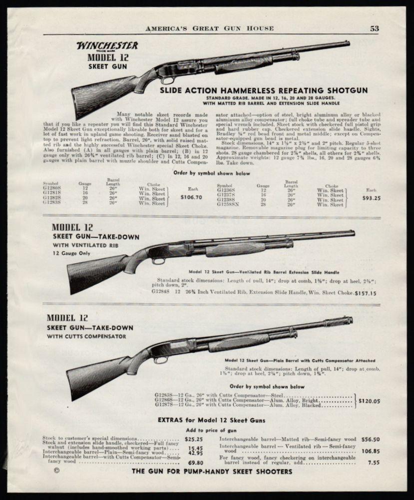 Details about 1947 WINCHESETER Model 12 Skeet Gun Repeating
