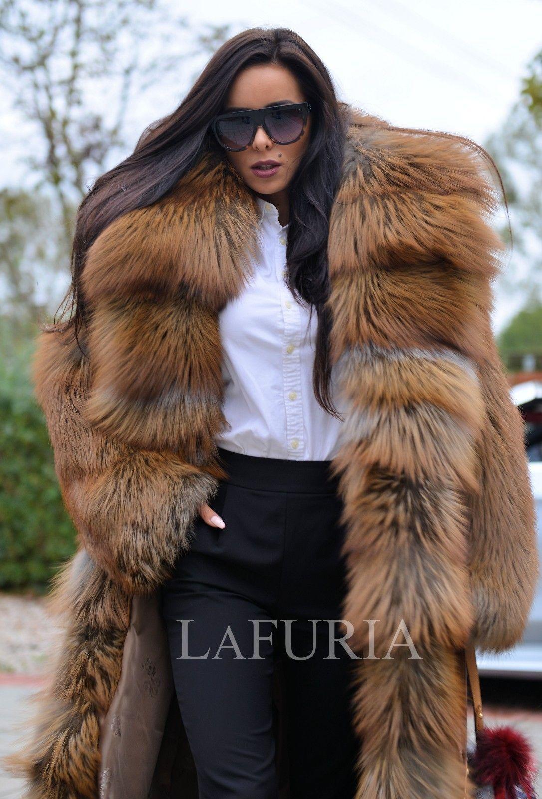 da9c4712b759 Royal fox fur long coat hood clas of chinchilla russian sable mink ...