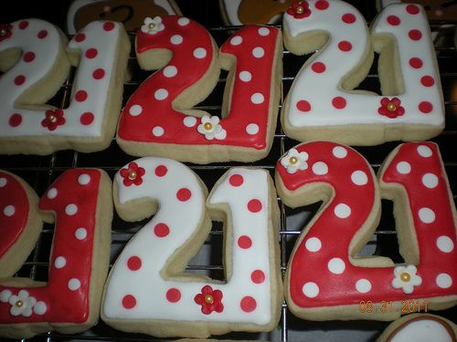 21st birthday cookies Birthday cookies 21st birthday and 21st