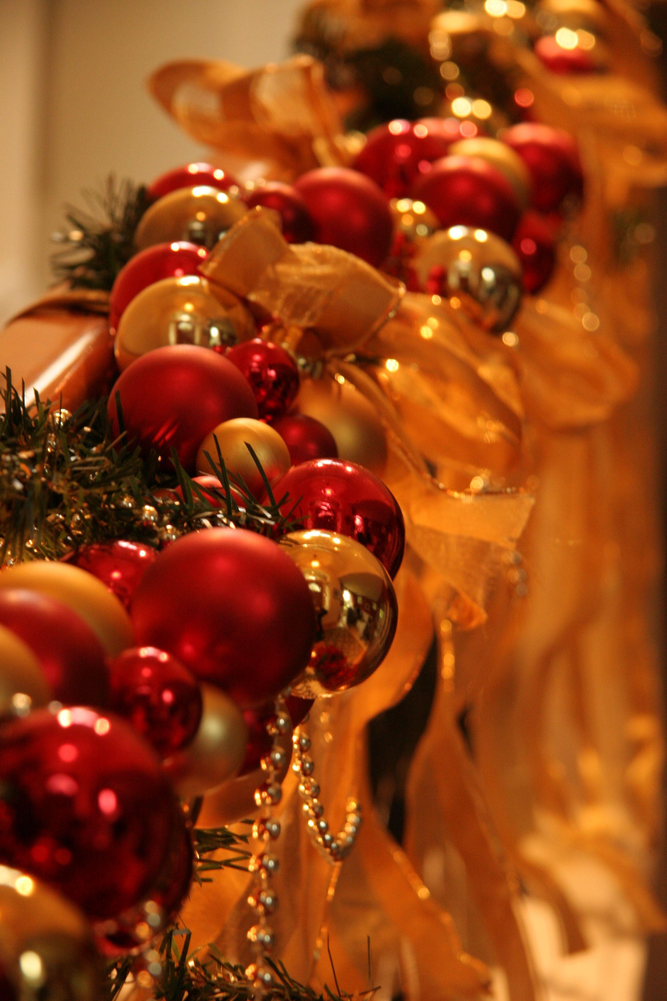 Christmas decorations on my stair rail   Christmas ...