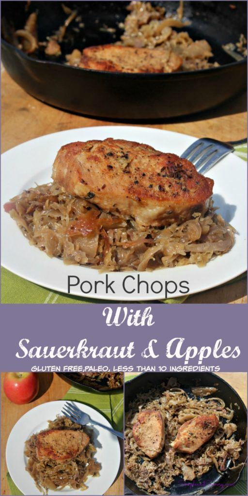 Savory and Sweet Pork Chops with Sauerkraut and Apples - Simple And Savory