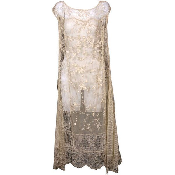 Pre-owned 1920\'S Filet and Embroidered Tulle Gown (12.065 ARS ...