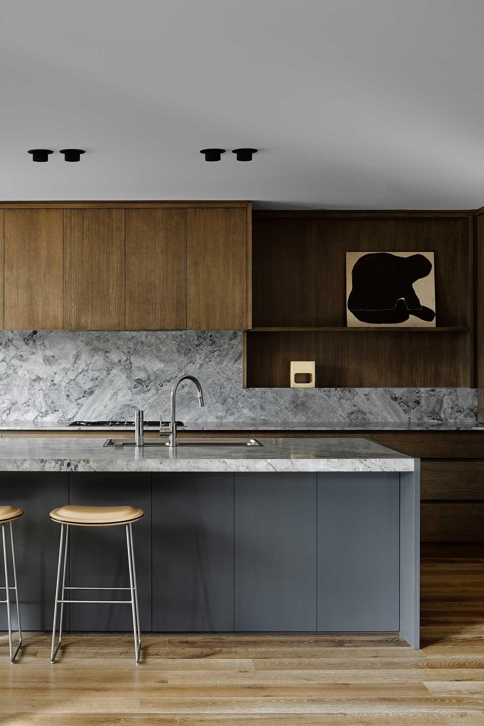 Sophisticated Minimalism Interiors Kitchen Pinterest