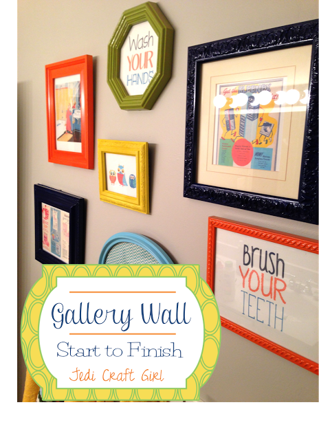 Jedi Craft Girl: Gallery Wall Start to Finish