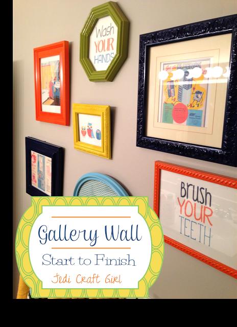 Jedi Craft Girl: Gallery Wall Start to Finish