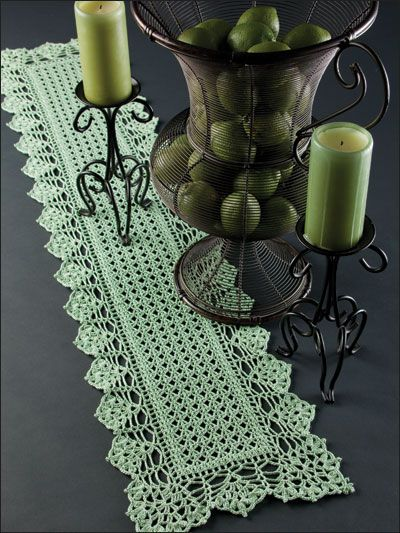 Crochet For The Home Crochet Tablecloth Table Runner Patterns
