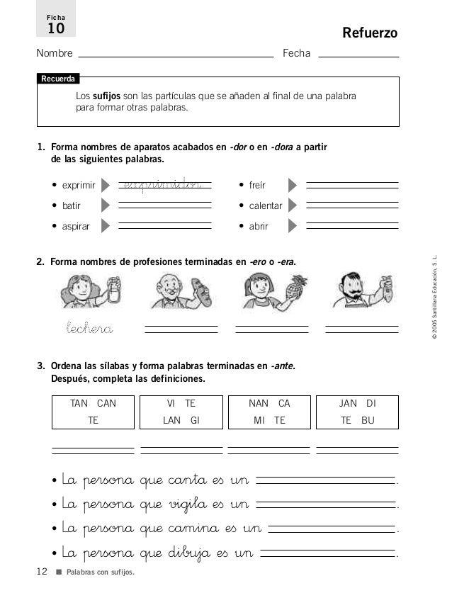 Refuerzo y ampliación lenguaje 4º | lengua cuarto | Pinterest