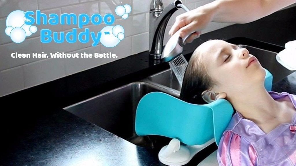 Shampoo Buddy The End Of The Hair Washing Battles Project Video Thumbnail Washing Hair Diy Hair Wash Hair Washing Sink
